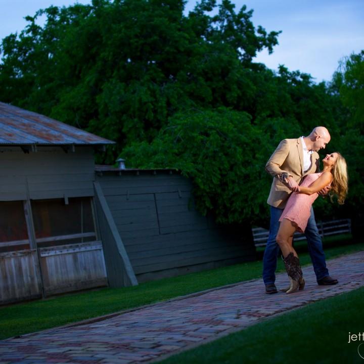 Gruene, TX Engagement Portrait